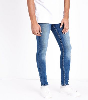 Bright Blue Super Skinny Jeans New Look