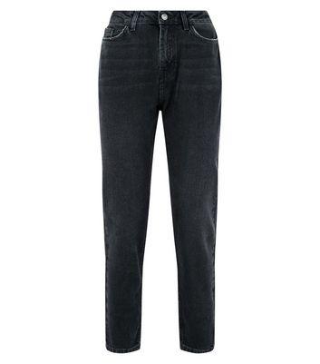 Black Tori Mom Jeans New Look