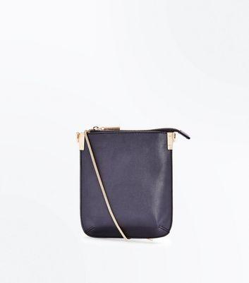 Black Pouch Cross Body Bag New Look