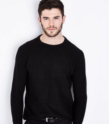 Black Raglan Sleeve Jumper New Look