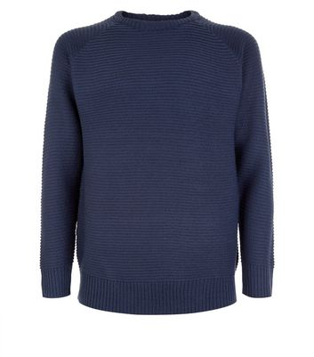 Blue Raglan Sleeve Jumper New Look