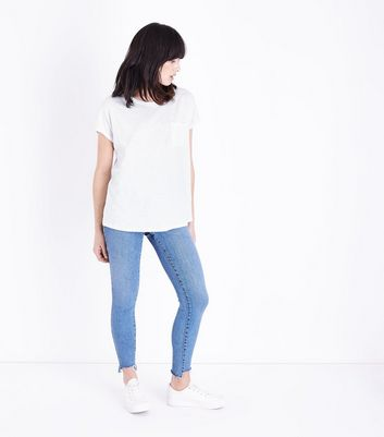 White Organic Cotton Pocket Front T-Shirt New Look