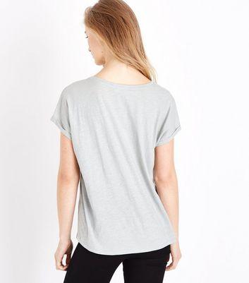 Green Organic Cotton Pocket Front T-Shirt New Look