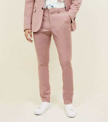 Pantalon de costume rose coupe slim