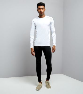White Stretch Long Sleeve T-Shirt New Look