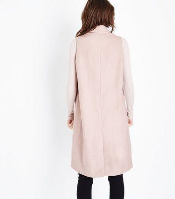 Pale Pink Longline Gilet New Look