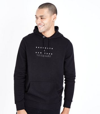 Black Brooklyn X New York Print Hoodie New Look