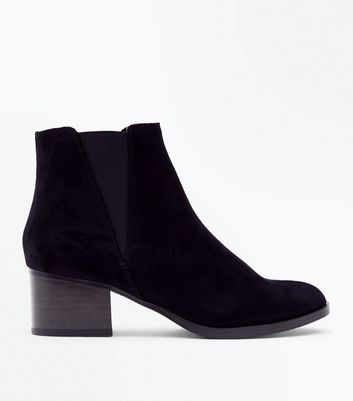 Girls - Bottines Chelsea ado noires en suédine