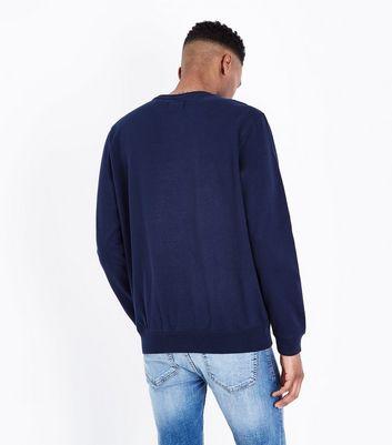 Navy NYC Print Front Sweatshirt New Look