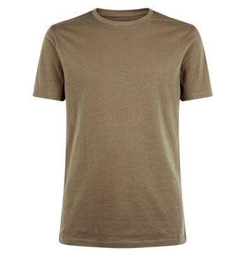 Khaki Ultra Muscle Fit T-Shirt New Look