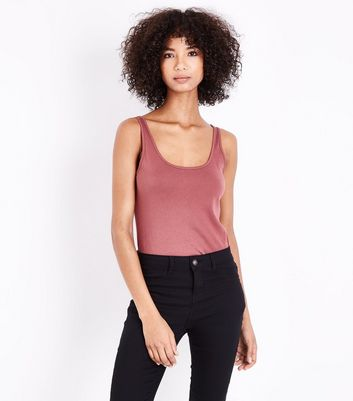 Deep Pink Scoop Neck Vest New Look