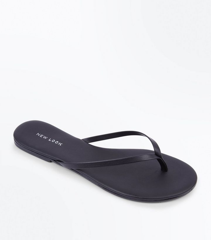 ed6314f963832 Black Leather Flip Flops Add to Saved Items Remove from Saved Items