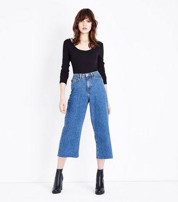 Black Scoop Back Long Sleeve Bodysuit New Look