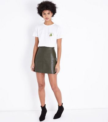 White Avo Nice Day Logo T-Shirt New Look