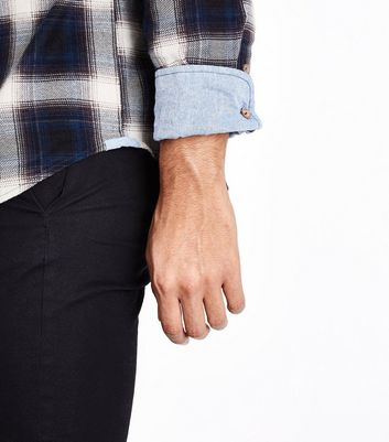 Blue Ombre Check Shirt New Look