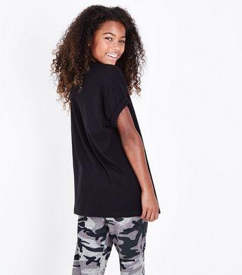 Teens Black Slogan Girls Of The World T-Shirt New Look