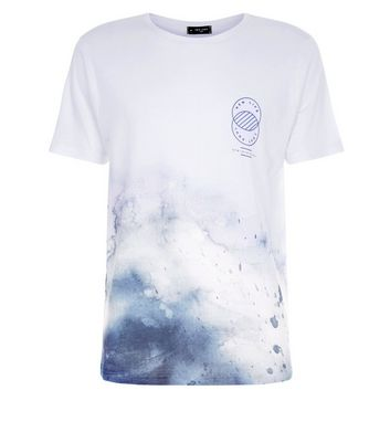 White New Life Logo Print T-Shirt New Look