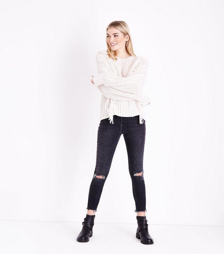 038ce67cc1 Tall Dark Grey Ripped Knee Skinny Jeans