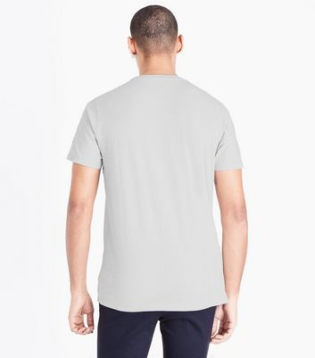 Pale Grey Crew Neck T-Shirt New Look