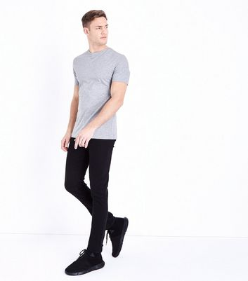Grey Short Sleeve Muscle Fit T-Shirt New Look