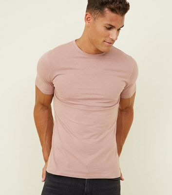 Mid Pink Short Sleeve Muscle Fit T-Shirt