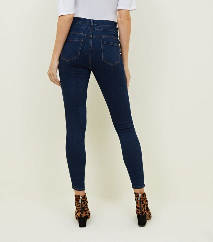 2866088f778d3 ... Tall Blue Rinse Wash Button Front High Waist Skinny Jeans. ×. ×. ×.  Shop the look