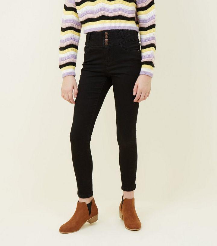 Schwarze Jeans Mädchen blonde Muschi Heiße