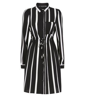 Tall Black Stripe Shirt Dress New Look
