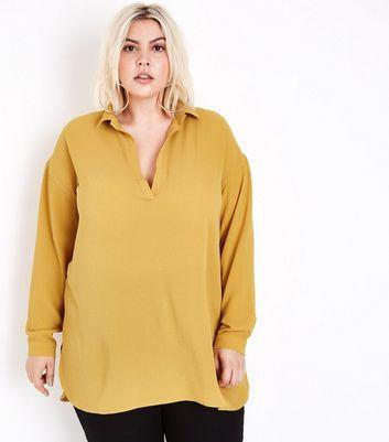 Curves Mustard Yellow Overhead Shirt New Look