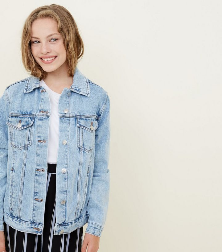 d371ae2ba Girls Pale Blue Oversized Denim Jacket Add to Saved Items Remove from Saved  Items