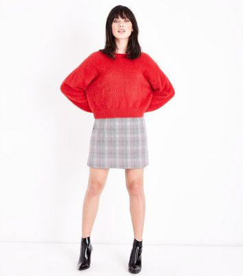 Pink Prince of Wales Check Mini Skirt New Look