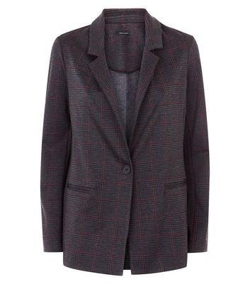 Grey Check Lightweight Blazer New Look