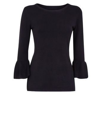 Apricot Black Bell Sleeve Jumper New Look
