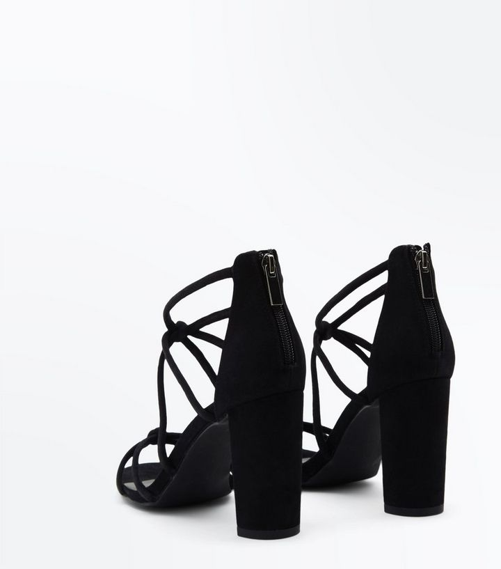 344833e2adc5 ... Sandals · Black Suedette Knot Strappy Block Heels. ×. ×. ×. Shop the  look