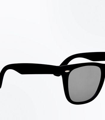 Black Smoke Tinted Square Sunglasses New Look