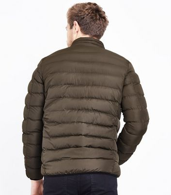 Khaki Light Weight Puffer Jacket New Look
