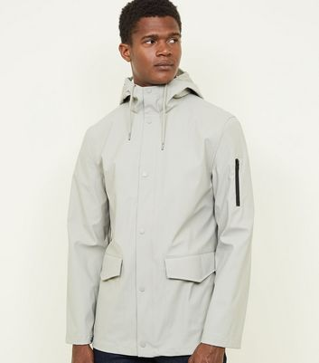 Stone Hooded Rain Coat