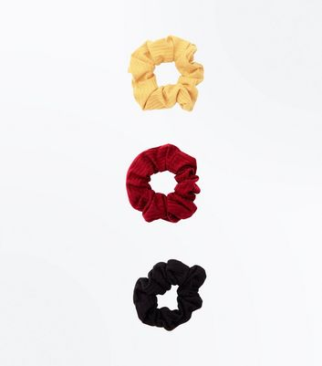 3 Pack Multicoloured Scrunchies