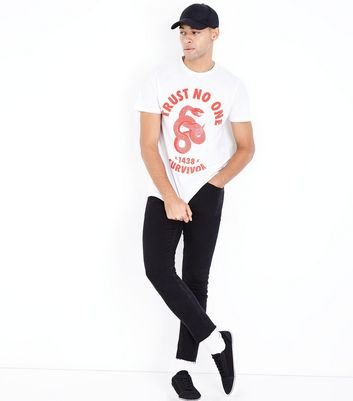 White Snake Graphic Print T-Shirt New Look