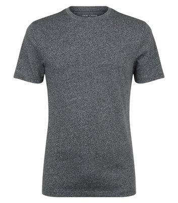Light Grey Marl Muscle Fit T-Shirt New Look