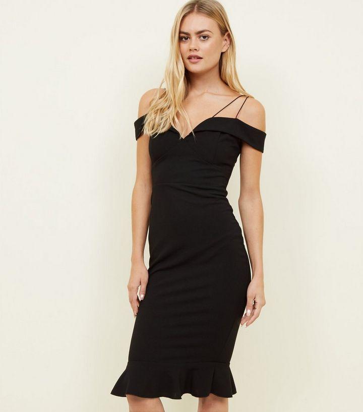 9f3a3e2f3ad8 AX Paris Black Off the Shoulder Fishtail Dress