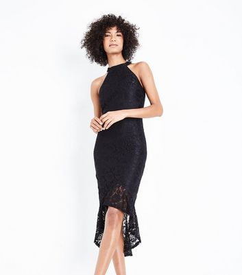 AX Paris Black Fishtail Lace Dress