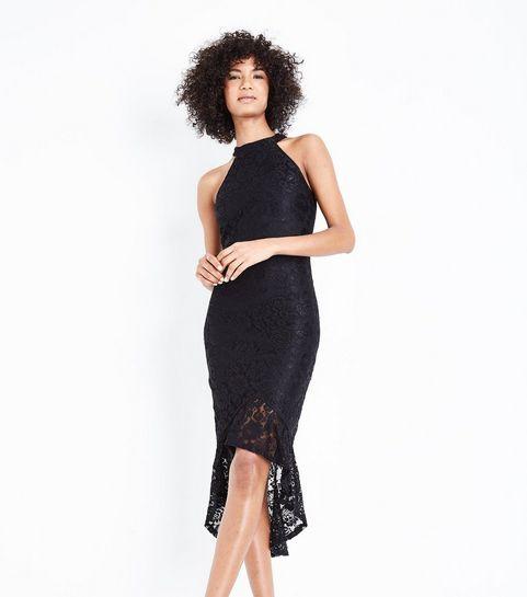 34ce1ecf934 ... AX Paris Black Fishtail Lace Dress ...
