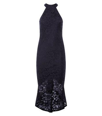 AX Paris Black Fishtail Lace Dress New Look