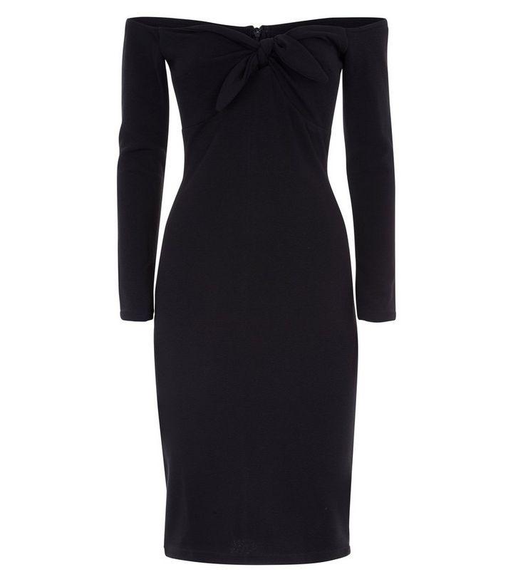 ed5c09096d38 ... AX Paris Black Tie Front Bardot Neck Dress. ×. ×. ×. Shop the look