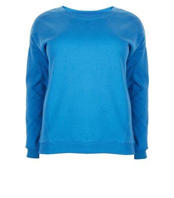 Curves Teal Round Neck Sweatshirt New Look