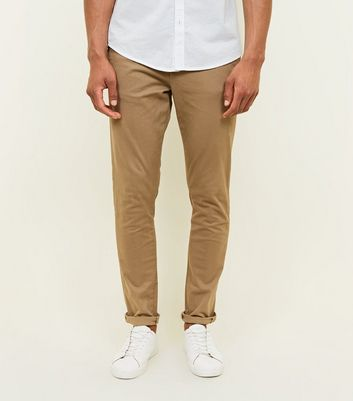 Graue Stretch Skinny Chino