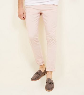 Pink Skinny Stretch Chinos