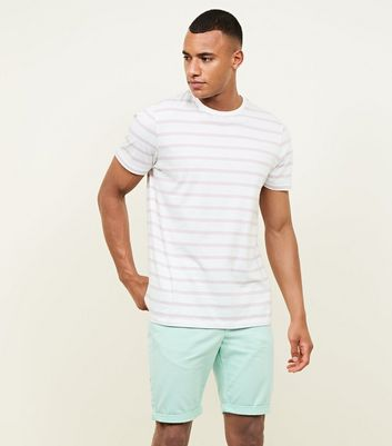 Mint Green Chino Shorts