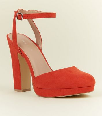 Orange Suedette Two Part Platform Courts